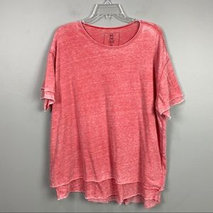 FP We the Free Layered T-shirt Red Large